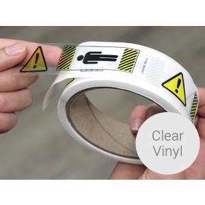 Clear Vinyl Roll Stickers