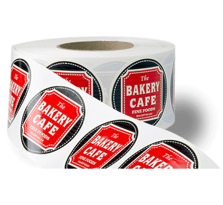 Rectangular Business Roll Stickers