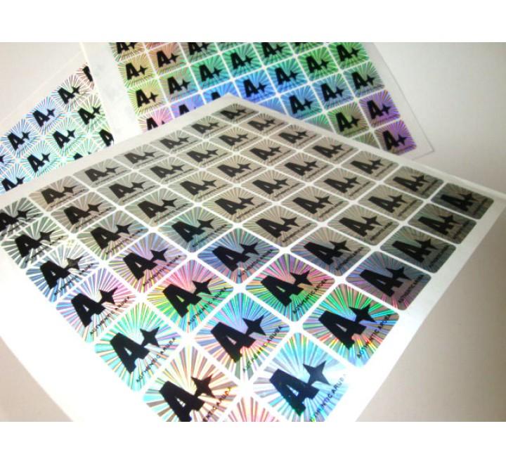 Rectangular Hologram Roll Stickers