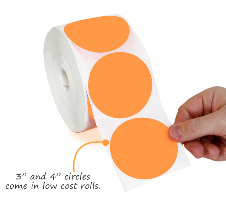 Round Labels Roll Stickers