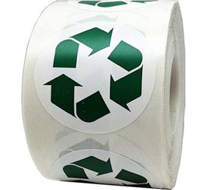 Round Logo Roll Stickers