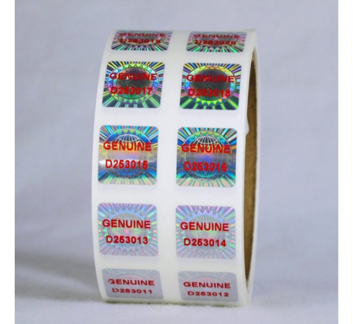 Square Labels Roll Stickers