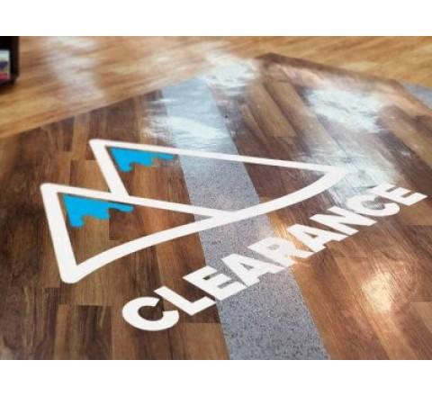 Custom vinyl floor stickers