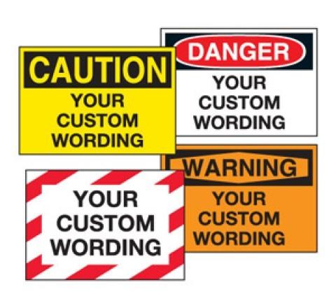 Custom warning stickers