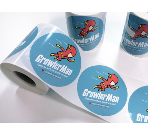 Die Cut Business Roll Stickers