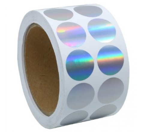 Hologram Round Roll Stickers