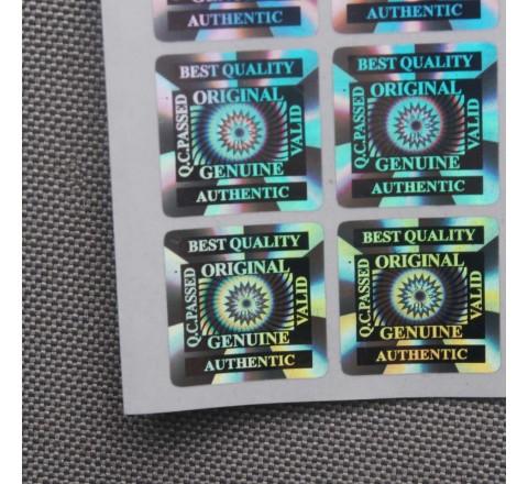 Rectangular 3D Hologram Sticker