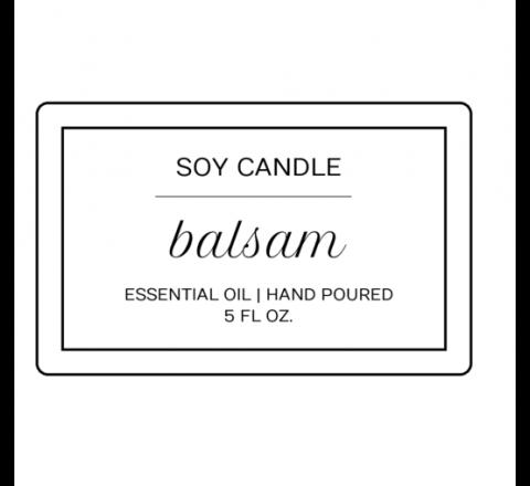 Rectangular Candle Labels