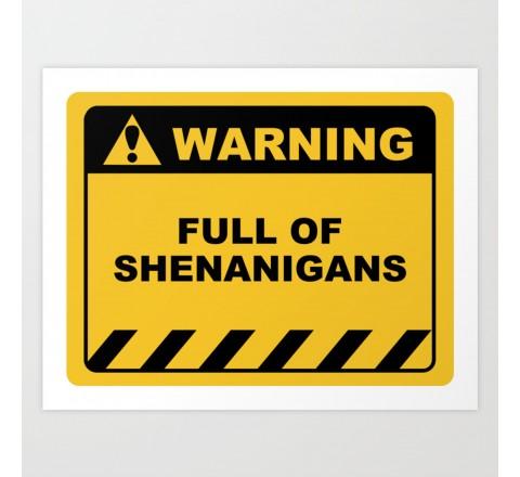 Rectangular funny warning labels