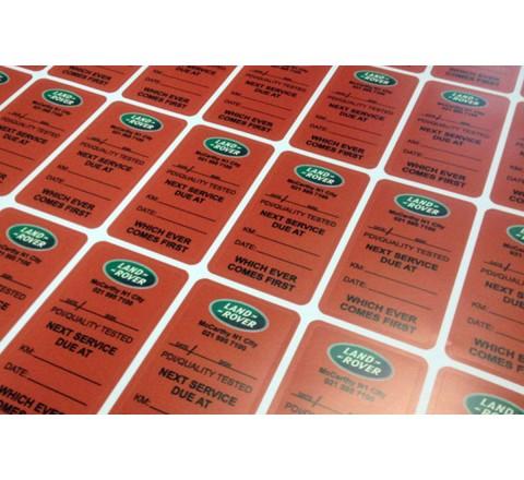 Rectangular vinyl sticker printing