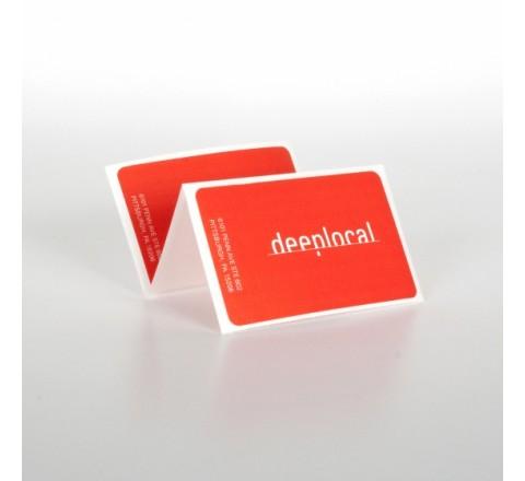 Rectangular White Vinyl Roll Stickers