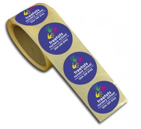 Round Decals Roll Stickers