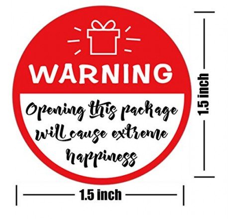 Round funny warning labels