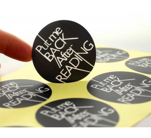 Round Laptop Roll Stickers