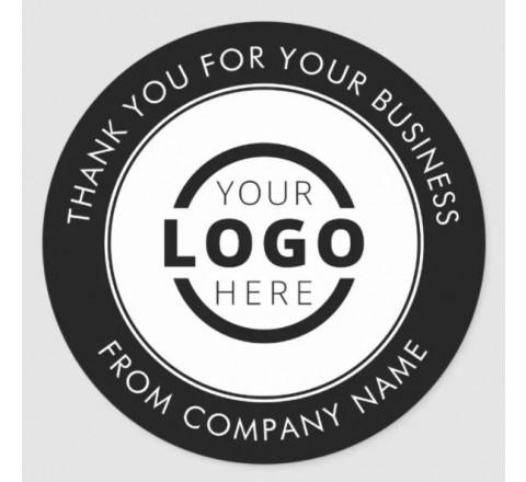 Round Business Logo Stickers