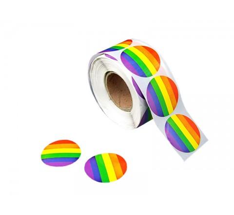 Round White Vinyl Stickers