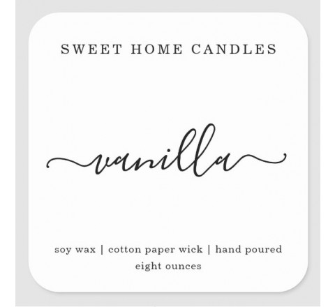Square Candle Labels