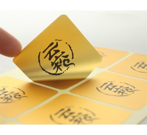 Square Gold Labels