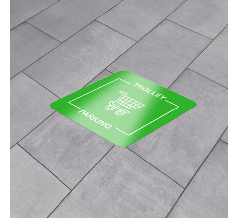 Square vinyl floor stickers